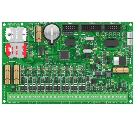 Панель охранно-пожарная Контакт GSM-5-2 (без голоса) с контролем АКБ