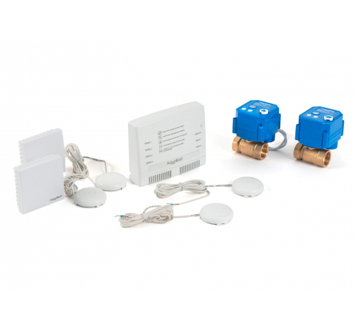 """Беспроводной комплект защиты от протечек воды AquaBast Квартира 3/4""""-RF"""