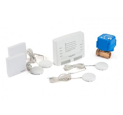 """Беспроводной комплект защиты от протечек воды AquaBast Коттедж 1""""-RF"""