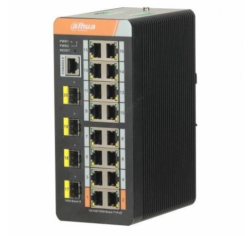 DH-PFS4420-16GT-DP 20-портовый гигабитный промышленный коммутатор