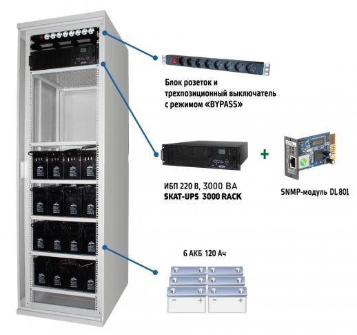SKAT UPS 3000 SNMP Комплекс бесперебойного питания